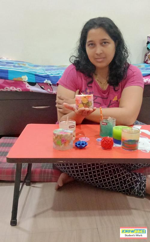 Online Candle Making Course in India. Learn designer wax and designer gel Candle making. Professional business oriented video course with lifetime access. Get Knowbbies Android App for Instant Access.